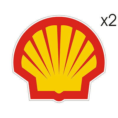 Stickers plastifiés SHELL - Ducati - 9,5cm x 9cm