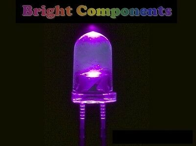 10 x Ultra Violet / UV / Purple LED 5mm - 1st CLASS POST