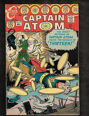 "Captain Atom #89 ~ ""Thirteen"" / Ditko; Nightshade by Aparo ~ 1967 (5.0) WH"