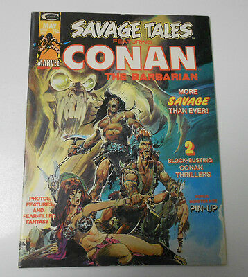 1974 SAVAGE TALES #4 Conan The Barbarian FVF Neal Adams Cover