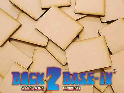 Flames Of War MDF 3mm Thick Wood Base Rectangle Shape Various Sizes