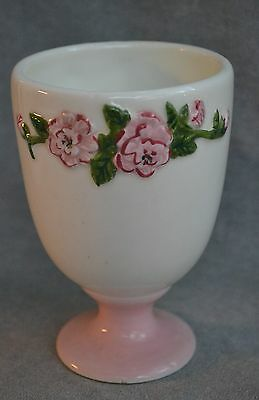 Waverly Garden Room Georgina Footed Tumbler Cup Green Flowers Pink Roses