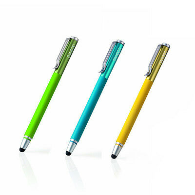 3X Wacom Bamboo Stylus Solo 2 Pen iPad iPhone Tablet in Green Yellow Blue/Black