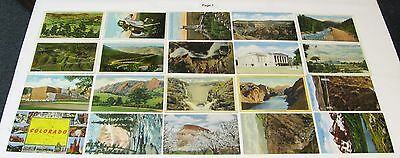 1930's 1940's 1950's LINEN Postcard Lot ~ COLORADO ~ 80 Postcards, Free Shipping