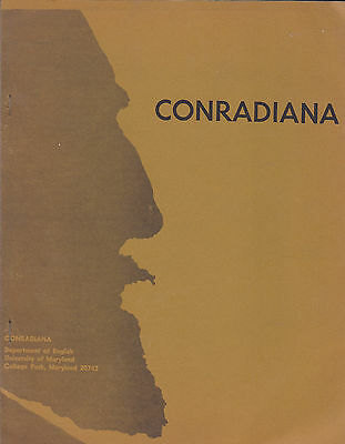 Conradiana, Vol. 1, No. 1-2-3. Conrad. University of Maryland, 1969