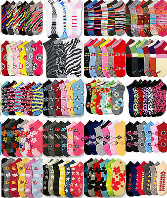 Girls Socks Size 4-6 Wholesale Lot Low Cut Mixed Assorted Novelty Designs