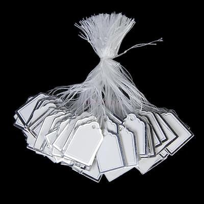 500 Silver Border Label Tie String Strung Jewelry Display Merchandise Price Tags