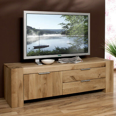 lowboard wildeiche massiv ge lt fernsehtisch fernsehschrank tv sideboard kommode eur 799 00. Black Bedroom Furniture Sets. Home Design Ideas