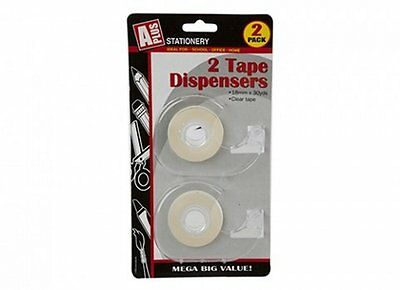Clear Tape And Tape Dispenser Pack Of 2, Hand Held 18Mm X 30Yds  038/025  13C