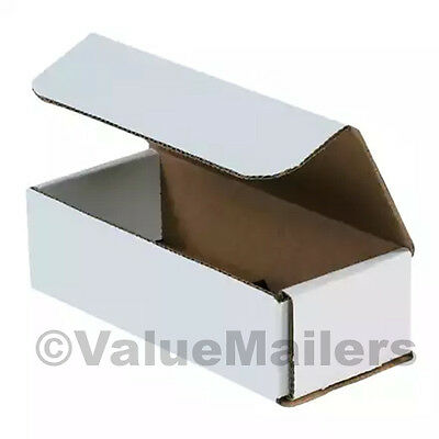 50 - 7x6x3 White Corrugated Shipping Packing Box Boxes Mailers