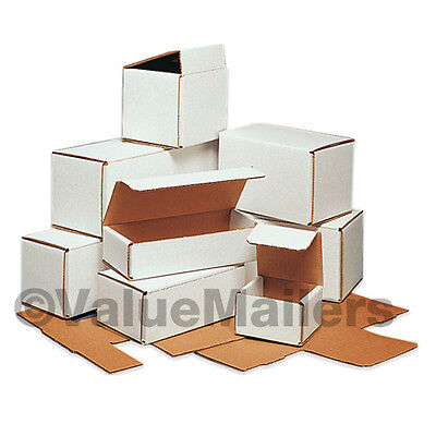 50 - 7x7x6 White Corrugated Shipping Packing Box Boxes Mailers