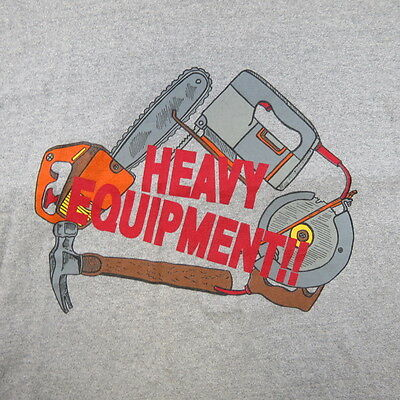 VINTAGE HOME IMPROVEMENT TV SHOW HEAVY EQUIPMENT TOOLS T SHIRT XL Tim Allen