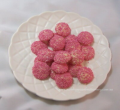 PINK - SPECKLED WHITE CHOCOLATE JEWELS -  400 grams - Freckles