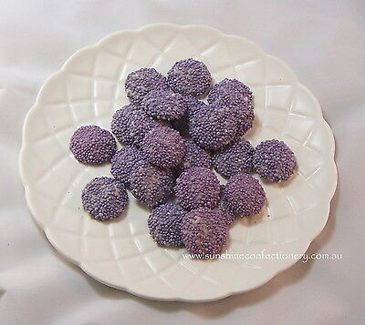 PURPLE - SPECKLED WHITE CHOCOLATE JEWELS -  400 grams - Freckles