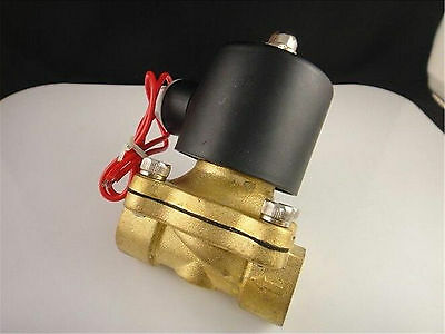 "AC 220V 1/2"" Brass Electric Solenoid Valve Water Air N/C Gas Water Air 2W-15"
