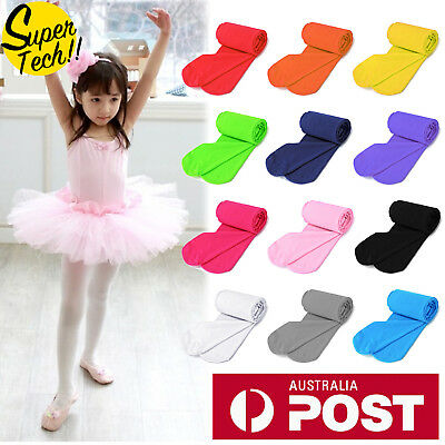 Girls Kids Tights Pantyhose Hosiery Stockings Opaque Ballet Dance AU