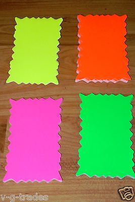 """LOT OF 100 Star Burst 3"""" x 5"""" Sign Cards 4 - Colors Retail Store Supplies SALE"""