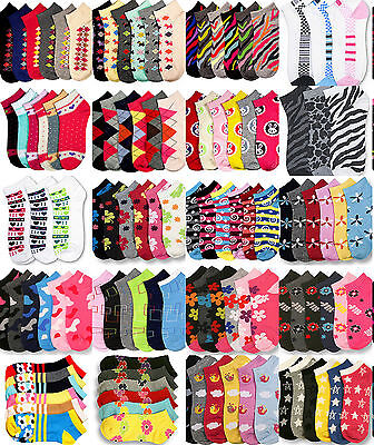 Wholesale Lot Girl's Ankle Socks Size 2-3 2T 3T Mixed Assortment Designs Colors