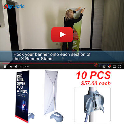 "Outdoor X Banner Stand 24"" x 57"" (Box Set - Stand and Base)"