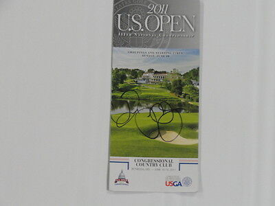 Rory Mcilroy Signed 2011 Us Open Final Round Pairing Sheet