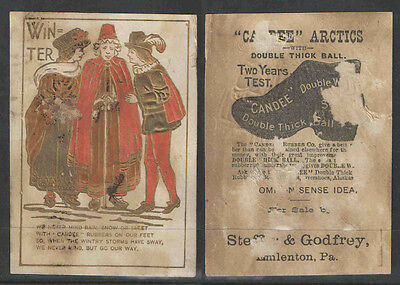1880s STEFFER & GODFREY CANDEE SHOES VICTORIAN TRADE CARD
