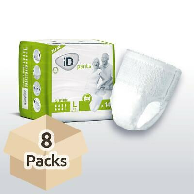 iD Pants Super - Large - Case - 8 Packs of 14 Incontinence Pants