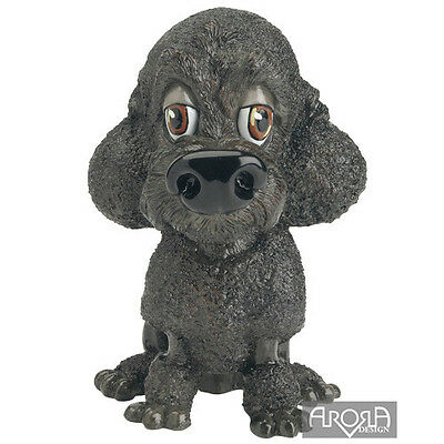 ♛ PETS WITH PERSONALITY Little Paws Dog Figurine Poodle Black Curtis