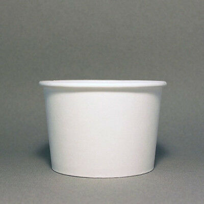 16 Oz White Frozen Yogurt Paper Cups - Fast Delivery!