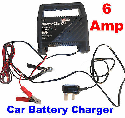 6 AMP 6Amp 12V Car Boat Portable Automatic Battery Booster Charger Starter WCBC6