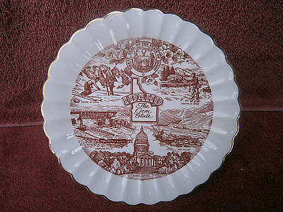 Vintage  Idaho  The  Gem  State  American  China   Plate
