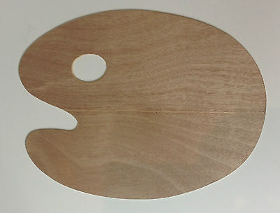 "Paint Palette 16"" X 20"" Artist Timber Palette Oval Wooden Palette"