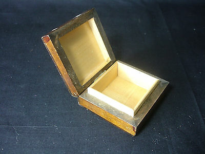Old Vtg Antique Collectible Wood Box With Engraved Shield