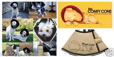 Comfy Cone Dog or Cat E Collar Soft & Flexible Surgery Recovery- Tan - Four Paws