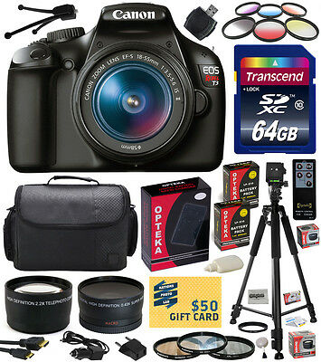 Canon EOS Rebel T3 1100D SLR Digital Camera with 18-55mm Lens (Professional Kit)