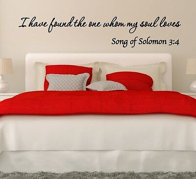 I Have Found The One Whom My Soul Loves Solomon Vinyl Wall Decal Sticker Quote