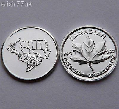 1 GRAM PURE 999 FINE SOLID SILVER ROUND MAPLE LEAF BULLION COIN PRESENT GIFT