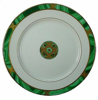 """FITZ & FLOYD china GRAMERCY green ACCENT SALAD PLATE butterfly 8-1/4"""""""