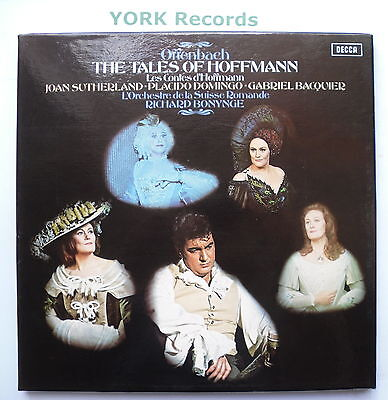 SET 545-7 - OFFENBACH - The Tales Of Hoffman BONYNGE - Ex Con 3 LP Record Set