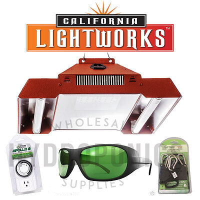 California Light Works SolarStorm 440W LED Grow Light-UVB Bulbs FREE Extras!