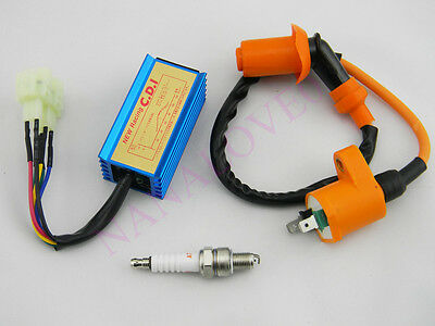 NEW RACING IGNITION Coil + Spark Plug + AC CDI fits GY6 50 125cc 150cc  Scooter