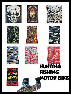 Hunting Fishing Lure Neck Sock Hunting Fishing Multi Patten Wraps Logo