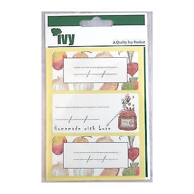 36 x Ivy Jam Jar Labels - Chutney Preserves Labels - Self Adhesive 34 x 75mm