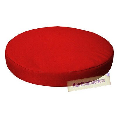 "Red 13"" Circular Round Water Resistant Garden Chair Dining Bistro Pad Cushion"