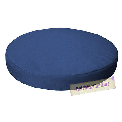 "Blue 13"" Circular Round Water Resistant Garden Chair Dining Bistro Pad Cushion"