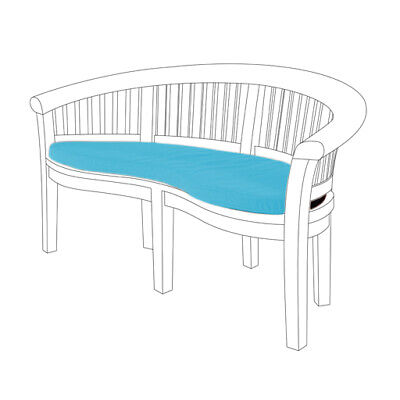 Aqua 2 Seater Water Resistant Outdoor Cushion Garden Banana Bench Seat Pad ONLY