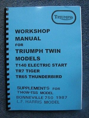 Triumph Tr7Rv T140E/s Workshop Manual 1979-6 Workshop Book 99-7059C + Tss Supp