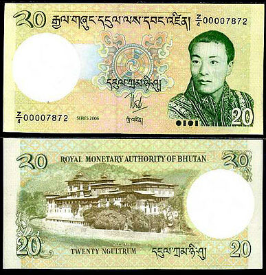 Bhutan 20 Ngultrum 2006 P 30 Replacement Z/4 Aunc