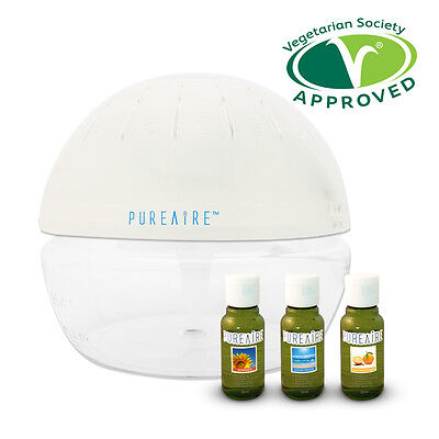 PureAire Basic & 3 Essence Pack Air Purifier Revitaliser & Humidifier Ioniser