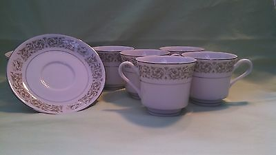 Everbrite China Garlandia Cups and Saucers - Excellent Condition