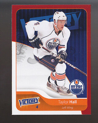 TAYLOR HALL Edmonton Oilers 2011-12 UD Victory Red Parallel INSERT CARD #76